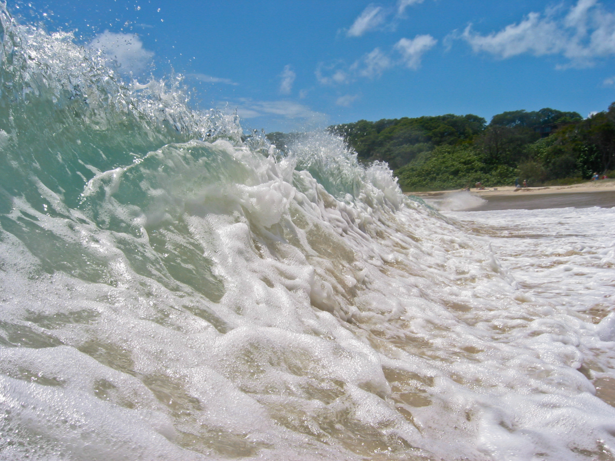 Wave Break, N. Stradbroke Island, Australia